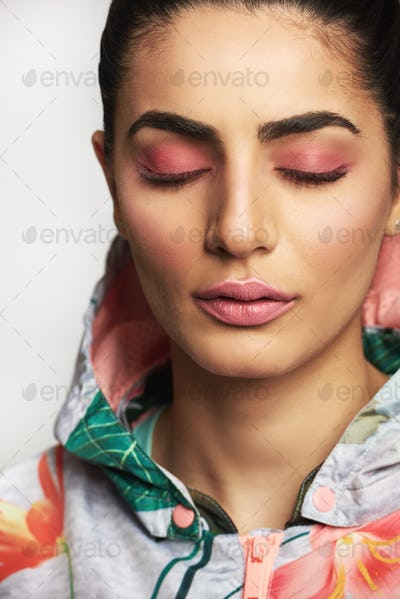 Beauty portrait of a young Indian woman