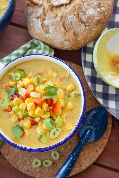 Delicious corn chowder