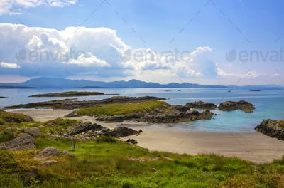 The Ring of Kerry, view to the atlantic ocean