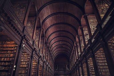 DUBLIN, IRELAND -  JULY 14, 2018: The Long Room in the Trinity C