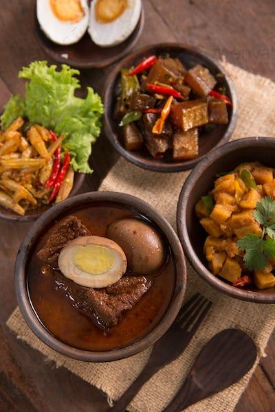 indonesian or javanese traditional food