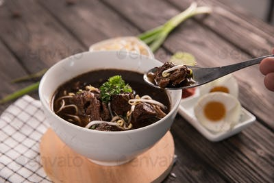 Rawon. traditional Indonesian beef black soup