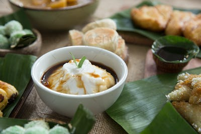 indonesian style porridge. bubur sumsum