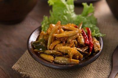 sambal teri. javanese traditional food