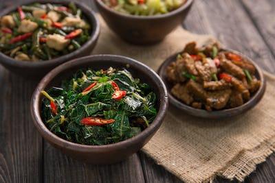traditional indonesian dishes oseng papaya leaf