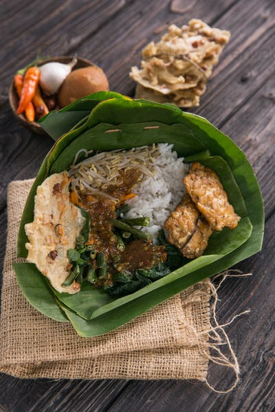 traditional indonesian culinary food pecel