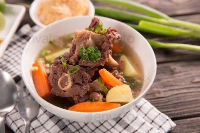 sop buntut or oxtail soup