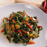 Stir fried water spinach or cah kangkung