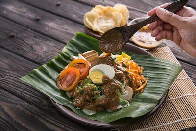 gado-gado. traditional indonesian food