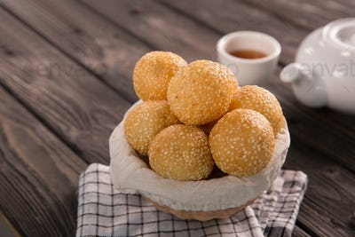 onde-onde. indonesian traditional street food