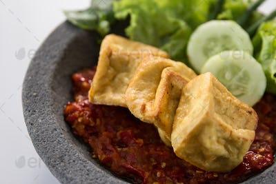 tahu goreng, fried tofu indonesian food