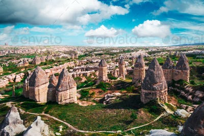 Famous Love valley in Cappadocia