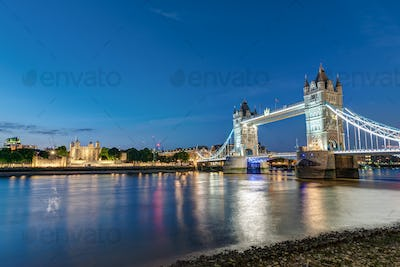 The Tower Bridge and the Tower of London
