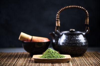 Matcha tea, drinking healthy tea ceremony