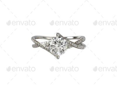 Diamond solitaire engagement wedding ring