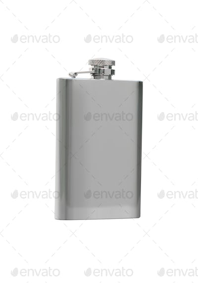 Silver flask