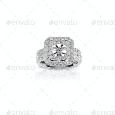 Halo DIamond Engagement Wedding Ring Setting unfinished jeweler jewelry making design