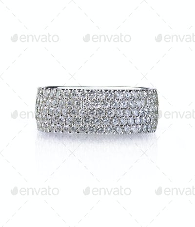 Diamond Pave Eternity Band Wedding anniversary ring