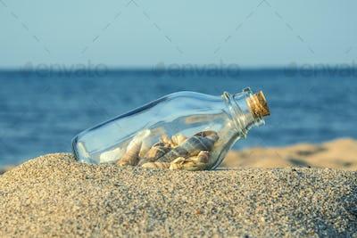 Summer sandy beach concept