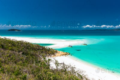 Famous Whitehaven Beach in the Whitsunday Islands, Queensland, A