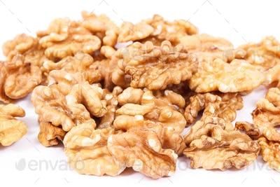 Natural healthy walnuts as source iron, omega 3 acids, vitamins and minerals