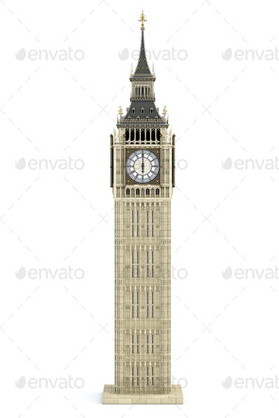 Big Ben Tower the architectural symbol of London, England and Gr