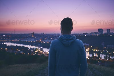 Contemplation at the sunrise