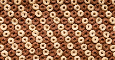 Colorful cereals background texture