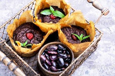 Vegan muffins from kidney beans