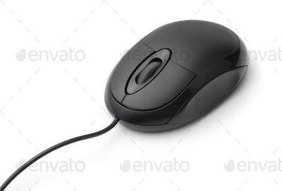 Black optical computer mouse