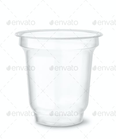 Disposable clear plastic cup