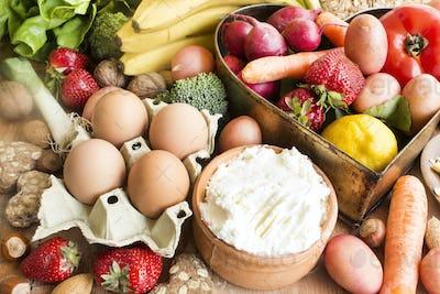 Various Healthy Food