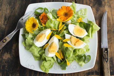 Egg Salad with Marigold