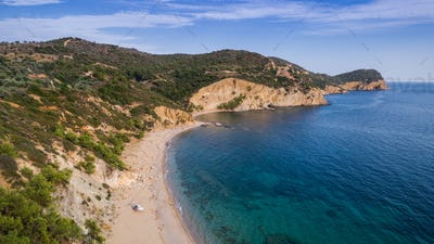 wild beach in Thassos island
