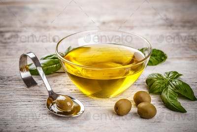 Bowl with olive oil