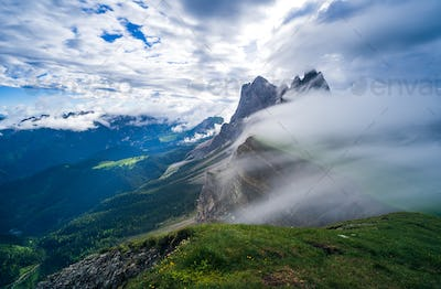 Seceda mountain in the Dolomites, South Tyrol, Italy