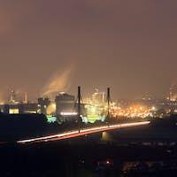 Industry At Night Panorama