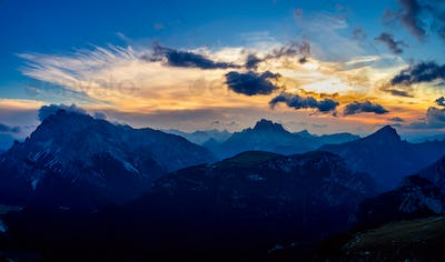 National Nature Park Tre Cime In the Dolomites Alps. Beautiful n