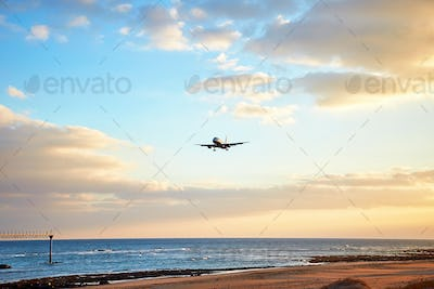 landscape with airplain