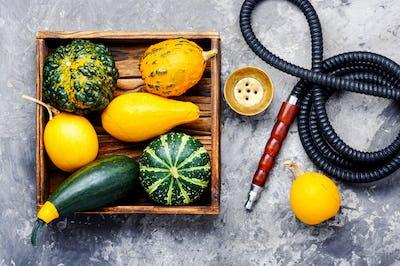 Oriental shisha with pumpkin