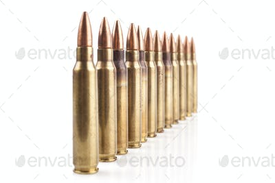 Bullets Row on White