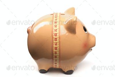 Tape on Piggy Bank