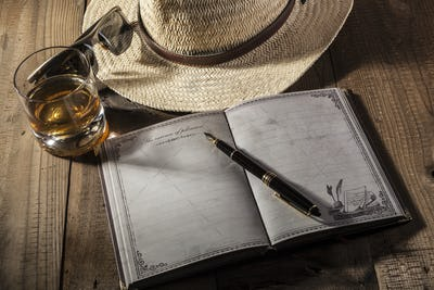 Hat and Notebook