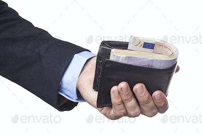 Holding Full Wallet