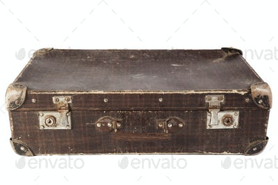 Closed Brown Suitcase