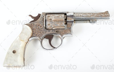 silver pistol