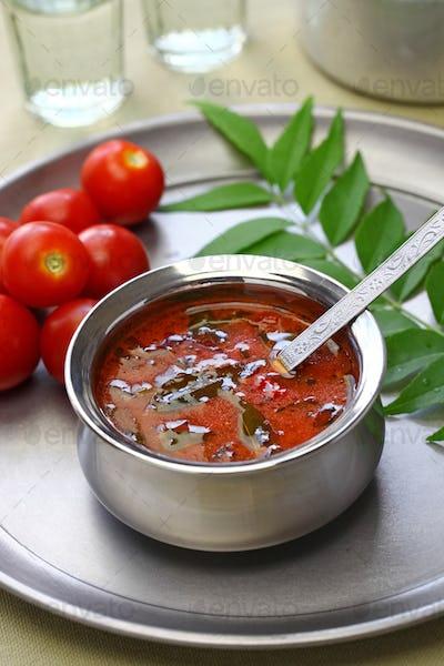 tomato rasam kerala style, south indian food
