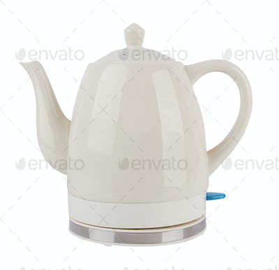electric kettle isolated