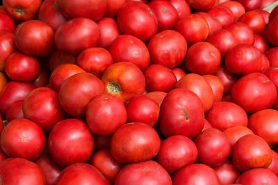 Healthy eating concept with ripe tomato
