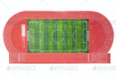 runway and football field isolated